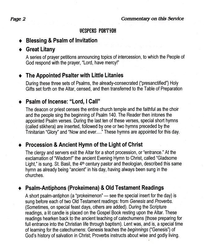 St  Mary Magdalene Orthodox Church - Presanctified Gifts Page 2